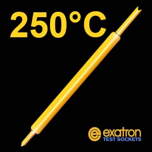 high temperature spring probe 250°C pogo pins IC test socket contact system from Exatron.
