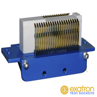 Conventional contactor for IC handler sprical pins
