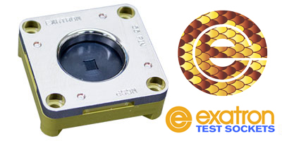 IC Thermal Test socket, Copperhead cuts soak times in half, from Exatron